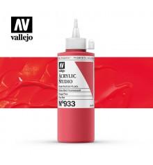 55) Acrylique Vallejo Studio 200 ml. 933 Rouge Fluo