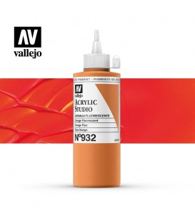 54) Acrilic Vallejo Studio 200 ml. 932 Taronja Fluorescent