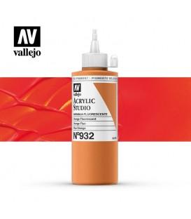 54) Acrylic Vallejo Studio 200 ml. 932 Orange Fluorescent