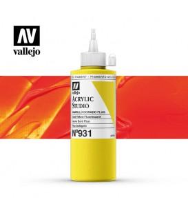53) Acrilic Vallejo Studio 200 ml. 931 Groc Daurat Fluoresce