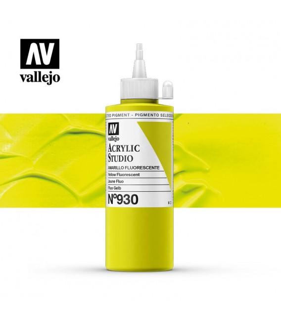 52) Acrylique Vallejo Studio 200 ml. 930 Jaune Fluo