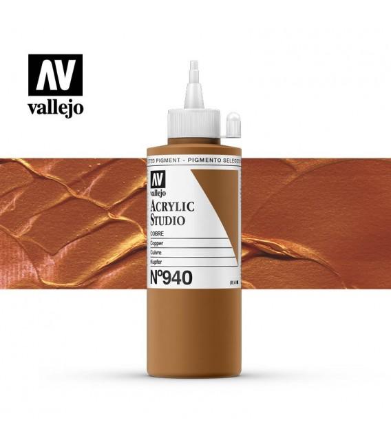 51) Acrilic Vallejo Studio 200 ml. 940 Coure