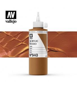 51) Acrylic Vallejo Studio 200 ml. 940 Copper