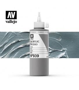 50) Acrilico Vallejo Studio 200 ml. 939 Plata