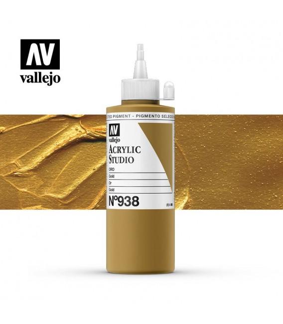 49) Acrilic Vallejo Studio 200 ml. 938 Or