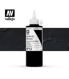 48) Acrylic Vallejo Studio 200 ml. 12 Mars Black