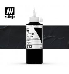 48) Acrilico Vallejo Studio 200 ml. 12 Mars Black