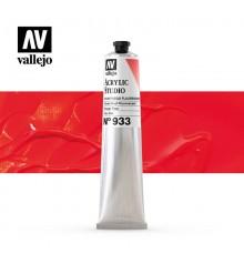 55) Acrilico Vallejo Studio 58 ml. 933 Flame Red Fluorescen
