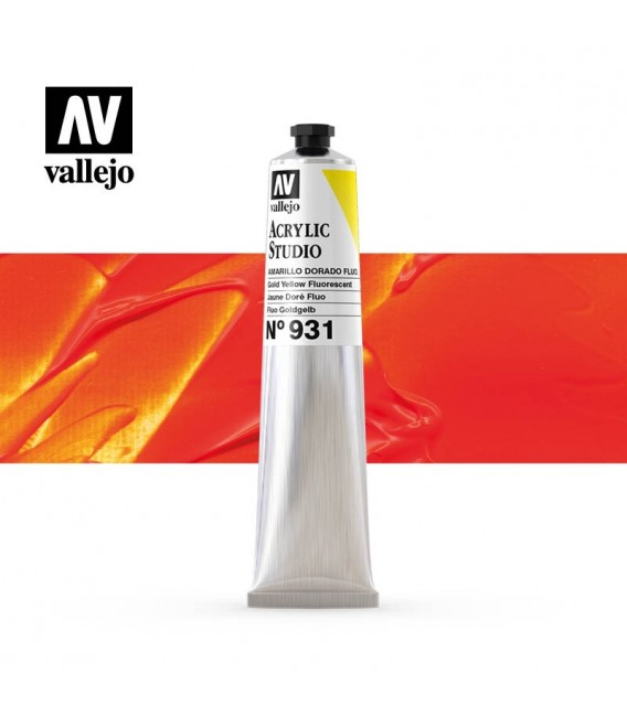 53) Acrilico Vallejo Studio 58 ml. 931 Amarillo Dorado Fluo