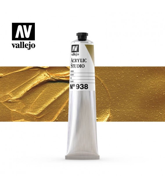 49) Acrilic Vallejo Studio 58 ml. 938 Or