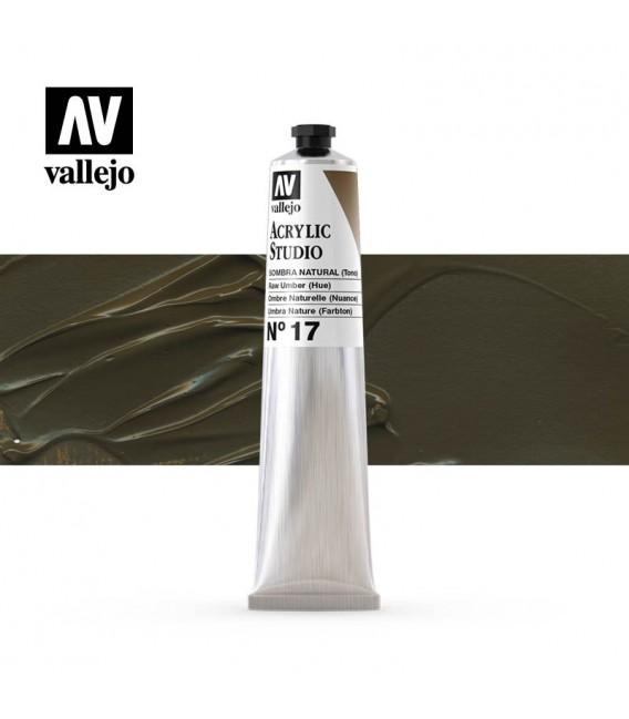 43) Acrilico Vallejo Studio 58 ml. 17 Sombra Natural (Tono)