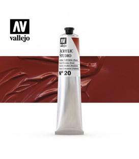 42) Acrylic Vallejo Studio 58 ml. 20 Burnt Sienna (Hue)
