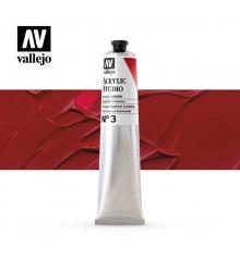15) Acrilic Vallejo Studio 58 ml. 3 Vermell Carmi Naphtol