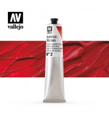 13) Acrilico Vallejo Studio 58 ml. 2 Rojo de Cadmio (Tono)