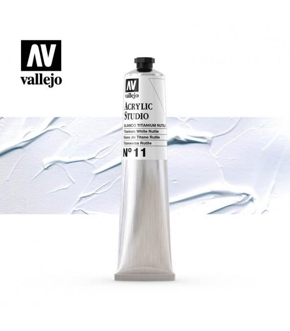 01) Acrilico Vallejo Studio 58 ml. 11 Blanco Titanio Rutilo