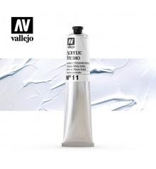 01) Acrylique Vallejo Studio 58 ml. 11 Blanc de Titane Ruti