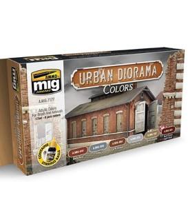 A.MIG-7177 Urban Diorama Colors Set 6 u. 17 ml