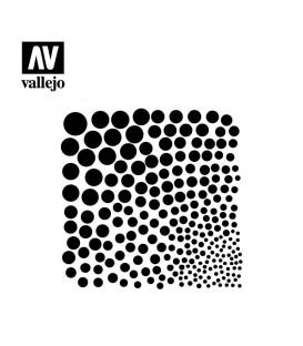 ST-SF002 Texturas Circulares Vallejo Hobby Stencils 125 X 125 mm.