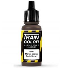73.004 Marron Basico Train Color (17ml.)
