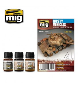 A.MIG-7403 Rusty Vehicles Set 3 u. 35 ml