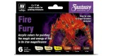 Set Vallejo Model Color 6 u. (17 ml.) Fire Fury