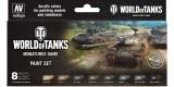 Set Vallejo Model Color 8 u. (17 ml.) World of Tanks