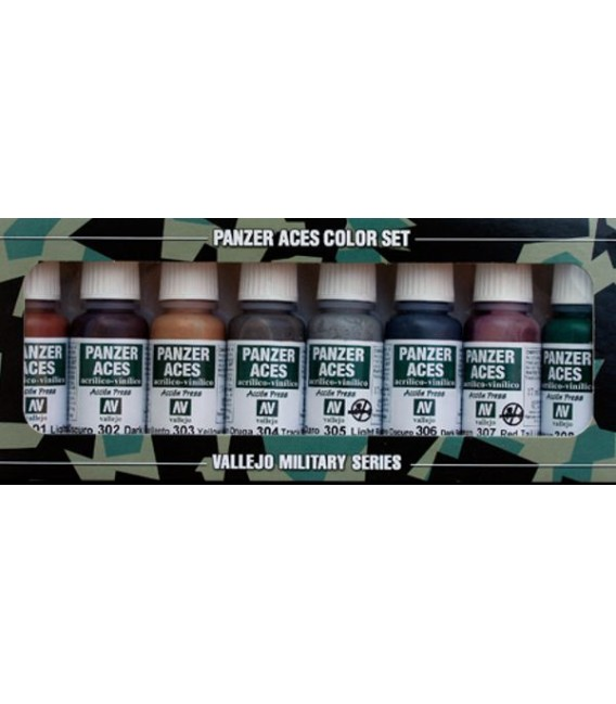 Set Vallejo Panzer Aces (17 ml.) Nº 1 rust, tracks, rubber,..
