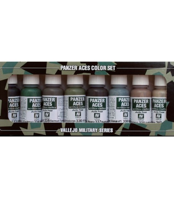 Set Vallejo Panzer Aces (17 ml.) Nº 5 Uniformes Tripulantes