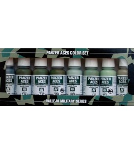 Set Vallejo Panzer Aces (17 ml.) Nº 4 Uniformes Tripulants
