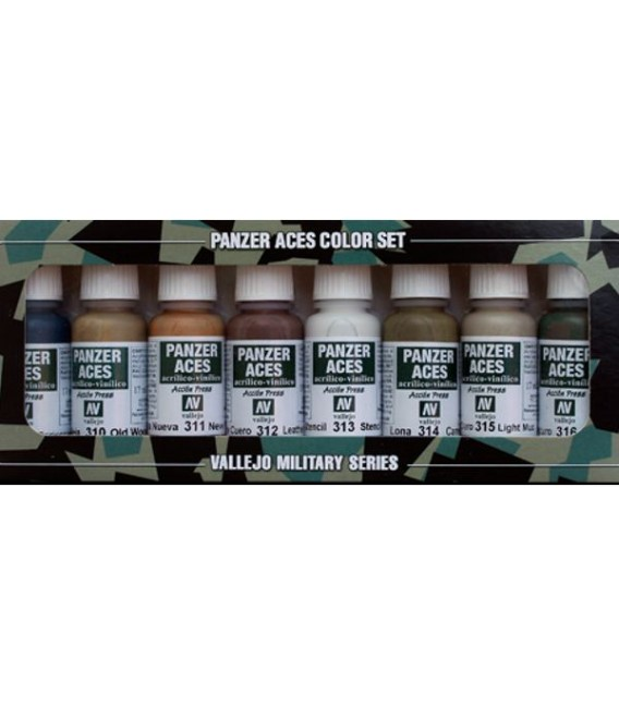 Set Vallejo Panzer Aces (17 ml.) Nº 2 madera, cuero, stencil...
