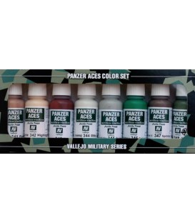 Set Vallejo Panzer Aces (17 ml.) Nº 6 piel, camuflaje...