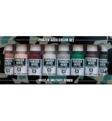 Set Vallejo Panzer Aces (17 ml.) Nº 6 skintones, camouflage...