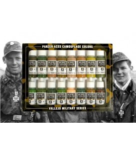 Set Vallejo Panzer Aces (17 ml.) Nº 7 Camuflatge