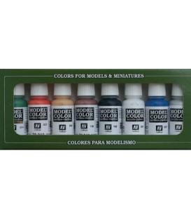 Set Vallejo Model Color 8 u. (17 ml.) Wargames Basics