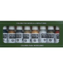 Set Vallejo Model Color 8 u. (17 ml.) Metallic Colors