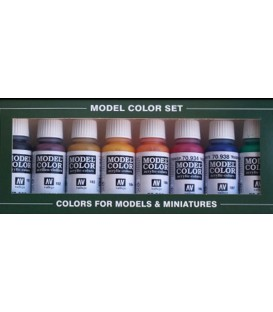 Set Vallejo Model Color 8 u. (17 ml.) Transparent Colors
