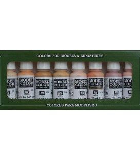 Set Vallejo Model Color 8 u. (17 ml.) Skintones Colors