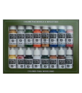Set Vallejo Model Color 16 u. (17 ml.) Folkstone Basics