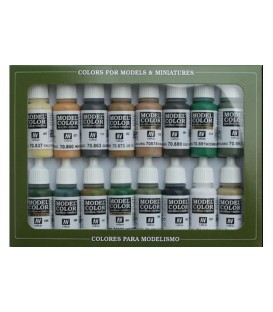 Set Vallejo Model Color 16 u. (17 ml.) Allied Forces WWII
