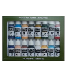 Set Vallejo Model Color 16 u. (17 ml.) Guerra Civil Americana