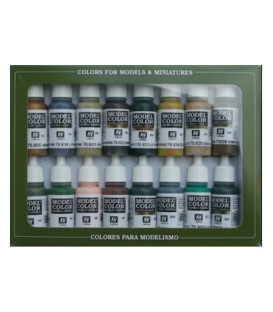 Set Vallejo Model Color 16 u. (17 ml.) Camuflatge Alemany WWII