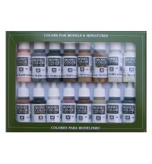 Set Vallejo Model Color 16 u. (17 ml.) Equestrian Colors