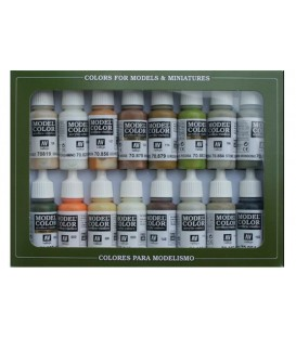 Set Vallejo Model Color 16 u. (17 ml.) Colors Terra