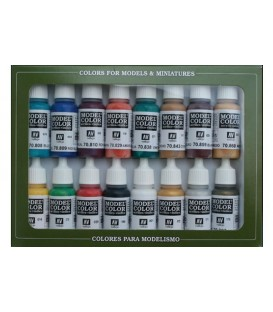 Set Vallejo Model Color 16 u. (17 ml.) Colors Medievals