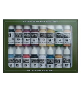 Set Vallejo Model Color 16 u. (17 ml.) Indis Americans