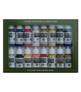 Set Vallejo Model Color 16 u. (17 ml.) American Colonial