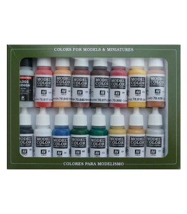 Set Vallejo Model Color 16 u. (17 ml.) Revolucio Americana