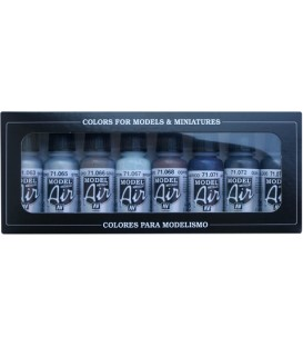 Set Vallejo Model Air 8 u. (17 ml.) Metallics Colors