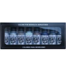 Set Vallejo Model Air 8 u. (17 ml.) Colors Metal.lics