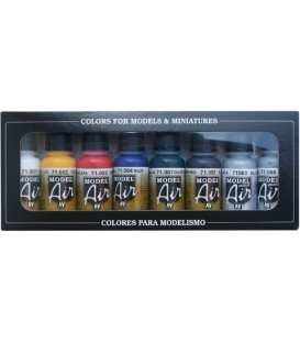 Set Vallejo Model Air 8 u. (17 ml.) Basic Colors